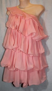 Top Shop Pink chiffon Dress