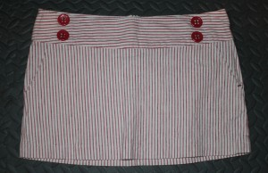 Forever 21 pink candy striper mini skirt