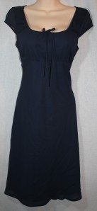 New York & Co navy babydoll sheer dress